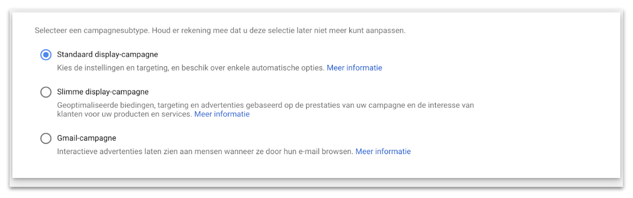 Hoe stel je display ads voor Google in?