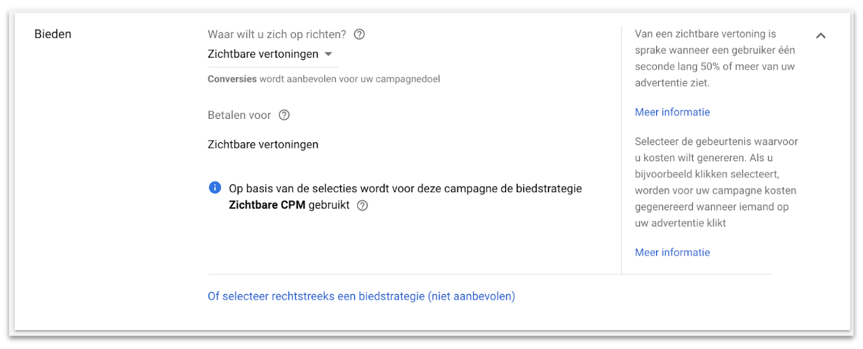 Welke biedstrategie is best voor je display ads?